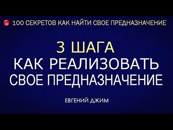 3 Шага Как реализовать свое Предназначение Евгений Джим