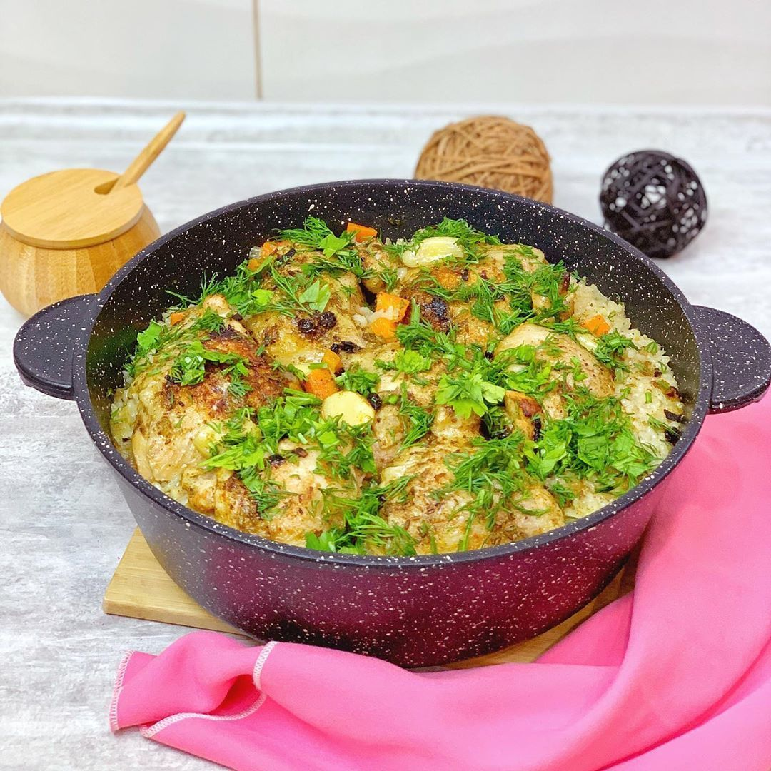 Курица с рисом с духовке