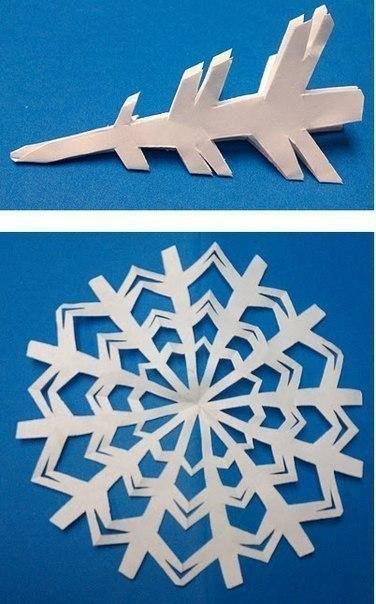 Схемы снежинок. Вырезаем вместе с ребенком, несложные шаблоны.