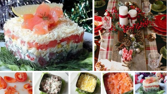 Салат с красной рыбой Ингредиенты Помидор 1-2 шт. Яйцо 1 шт. Сёмга слабосолёная 50 гр. Сыр 30 гр. Майонез Укроп Зелёный салат Ломтик лимона. Способ приготовления Шаг 1 Помидор разрезаем на 6