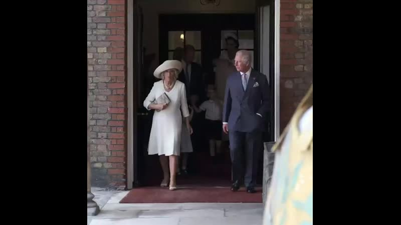 Members of the Royal Family arrive at the Chapel Royal St James's Palace for the christening of Prince Louis