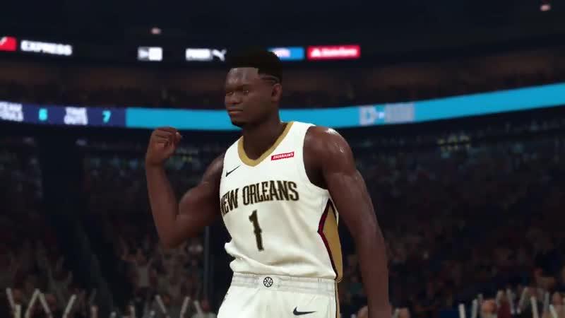 Air Jordan 34 ой модели на Зайоне Уильямсоне в NBA 2K20