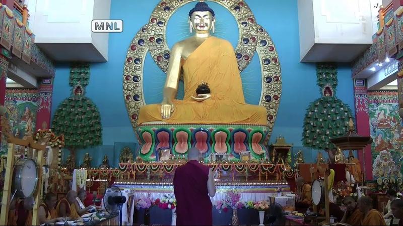 Прямая трансляция молебна в день 85 летия Его Святейшества Далай ламы XIV