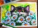лето котик на лугу часть 2
