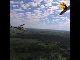 Учения экипажей ударных вертолетов