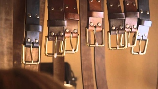 Leather craft  Making a leather belt by John Neeman Tools HD