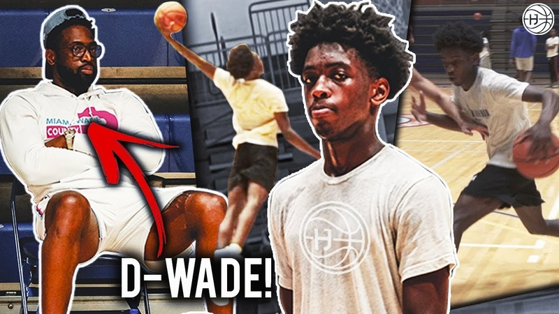 Dwyane Wade Watches Zaire NBA Workout wHis TRAINER! Zaire Wade Up Next!