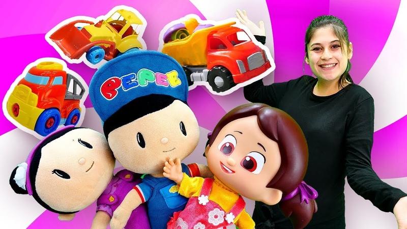 Çocuk videoları Ayşe ile. Pepee, Şila ve Niloya yapboz yapıyorlar. Eğitici oyun