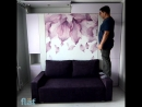 Шкаф кровать диван Flat фотопечать подсветка