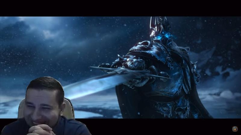 Манурин смотрит Трейлер World of Warcraft Wrath of the Lich King