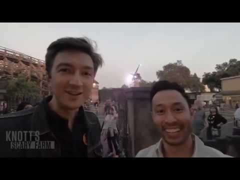 Ryan and Shane from Buzzfeed Unsolved visit Knotts Scary Farm 2018