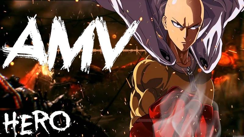 One Punch Man AMV Hero На русском аниме клип Ванпанчмен