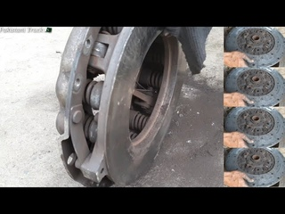How to change a old clutch plate and cleaning pressure plate