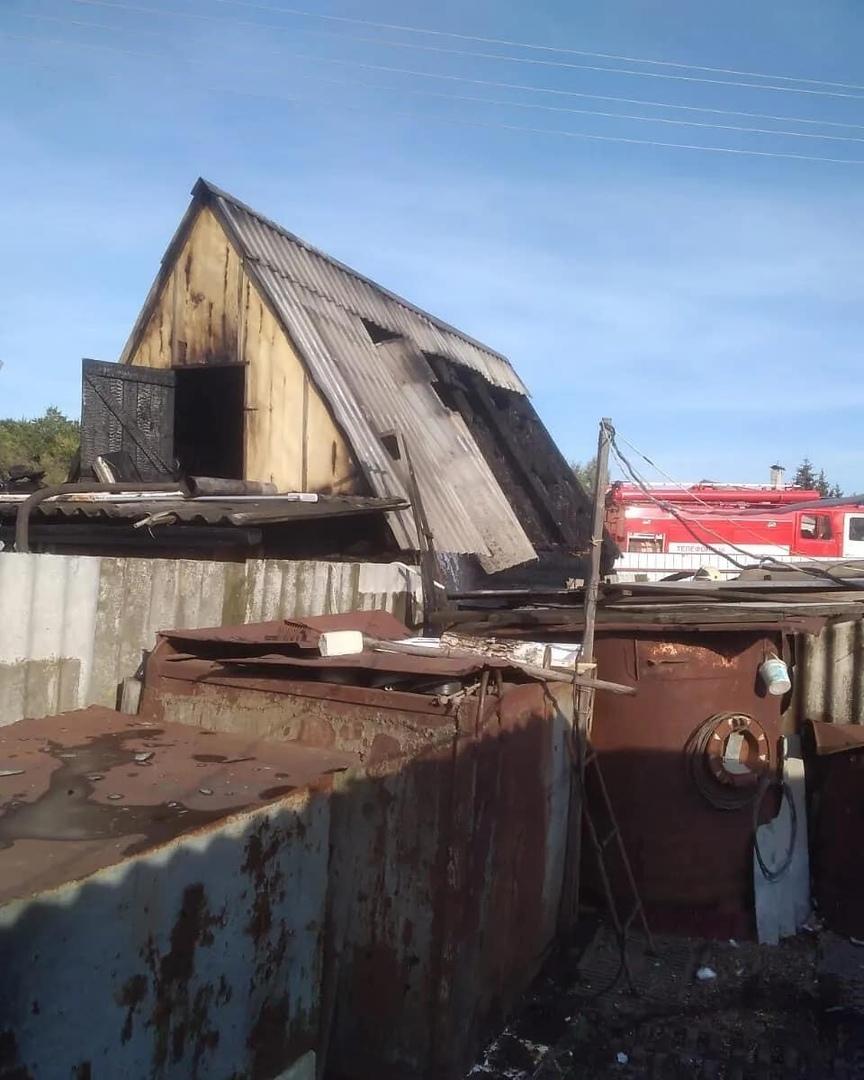 В посёлке Пригородный произошло возгорание бани одного из частных домовладений