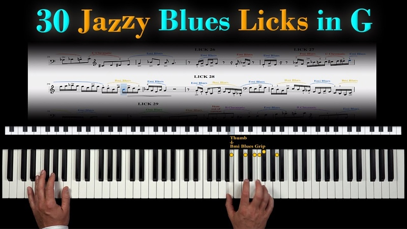 30 Thrilling Jazzy Blues Licks - with Sheet Music