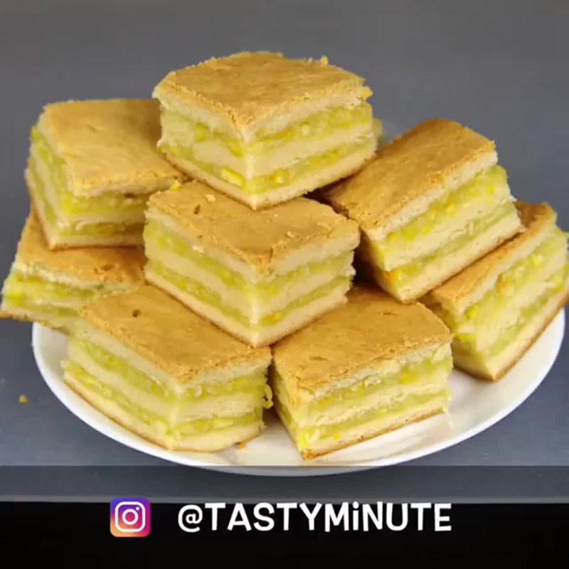 Домашнее пирожное с лимонно-апельсиновой начинкой - vk.com/v_cus (Вкус дома)
