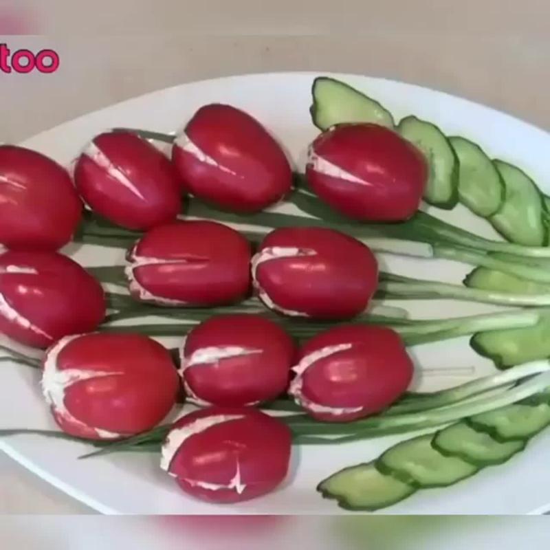 Вкусный и необычный весенний салат