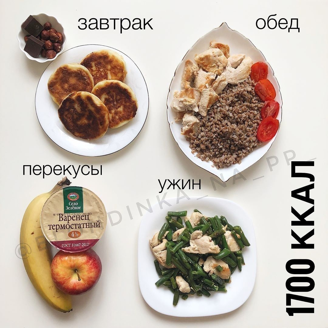 Рацион на 1700 калорий