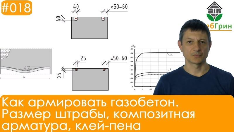 Как армировать газобетон Размер штрабы композитная арматура клей пена
