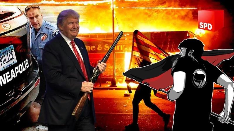 Endzeit News ➤ Donald Trump im Bunker Chaos in den USA SPD verteidigt Antifa