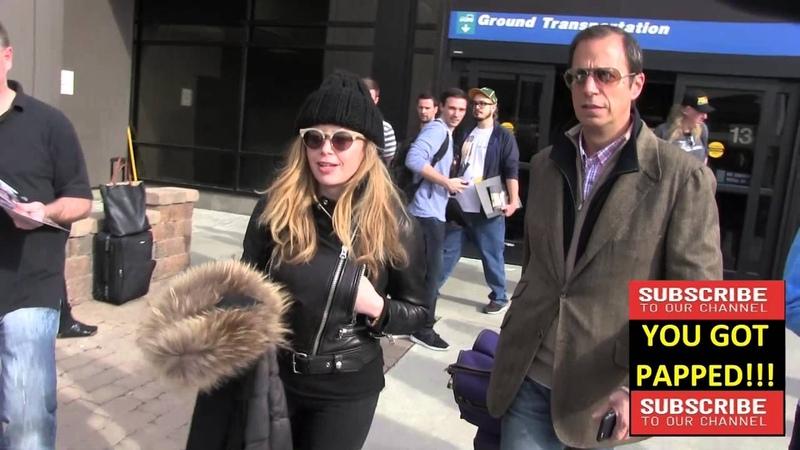 Natasha Lyonne arrives at Sundance Film Festival at alt Lake City Airport in Los Angeles