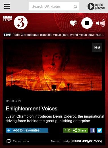 BBC Radio 3 Documentary: Enlightenment Voices - Denis Diderot