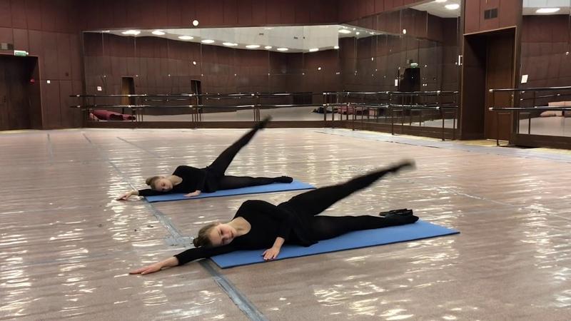 Театр танца Сапфир партерная гимнастика 2 часть февраль 2020