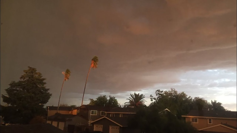 Sacramento Rain, Clouds, Wind, Thunderstorm Time-Lapse 949am To 811pm September 28, 2019