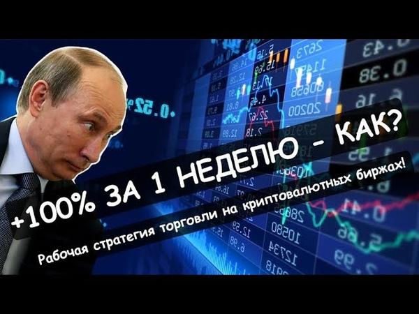 Стратегия торговли криптовалютой на бирже Как сделать 100% за неделю Реальный Бизнес