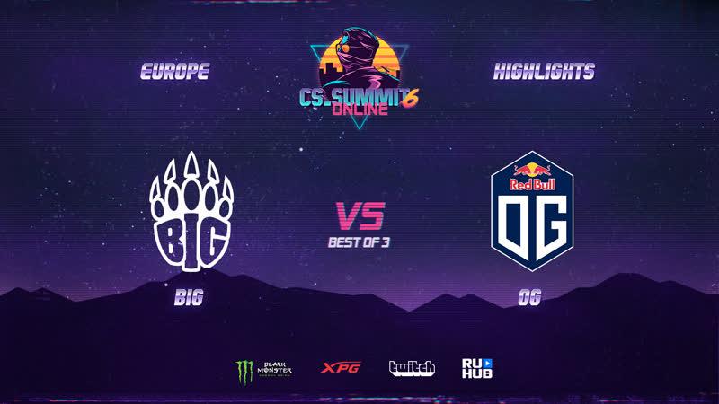BIG vs OG Highlights cs summit 6