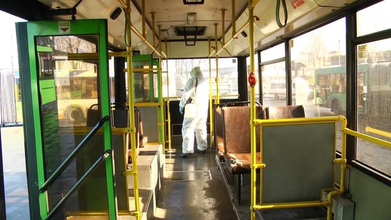 Салоны автобусов дезинфицируются несколько раз в день