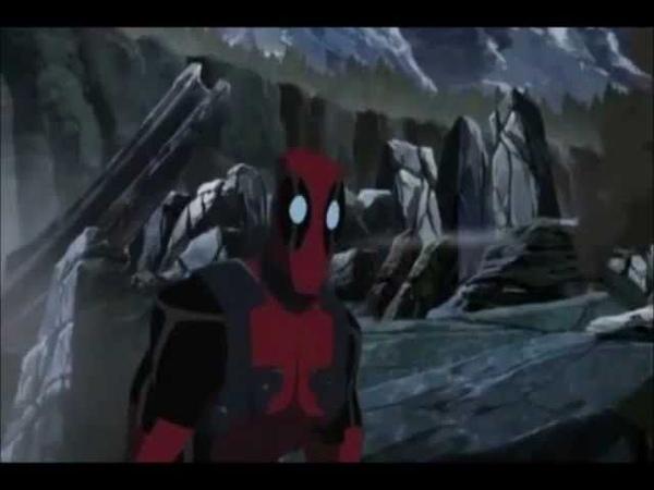 Deadpool's parts in Hulk Vs Wolverine