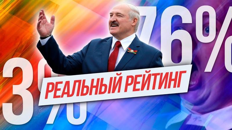 ПРА НАС Реальный рейтинг Лукашенко и секретный соцопрос