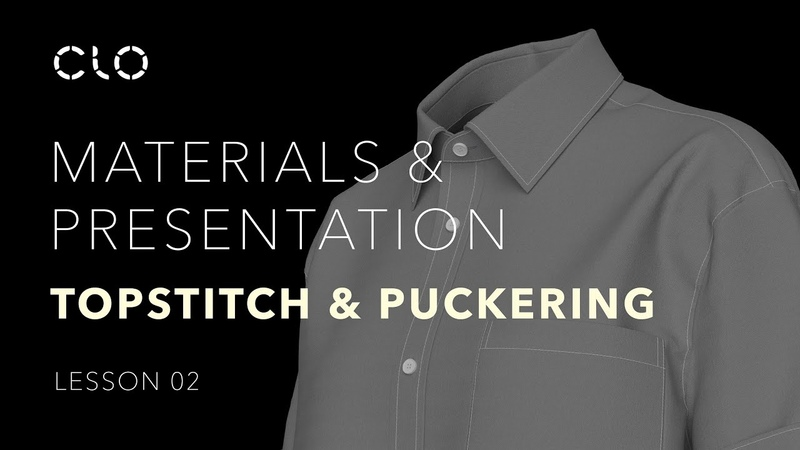 Beginner's Guide to CLO Part 4 Materials Presentation: Topstitch Puckering (Lesson 2)