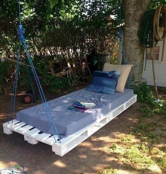 Самодельная подвесная кровать