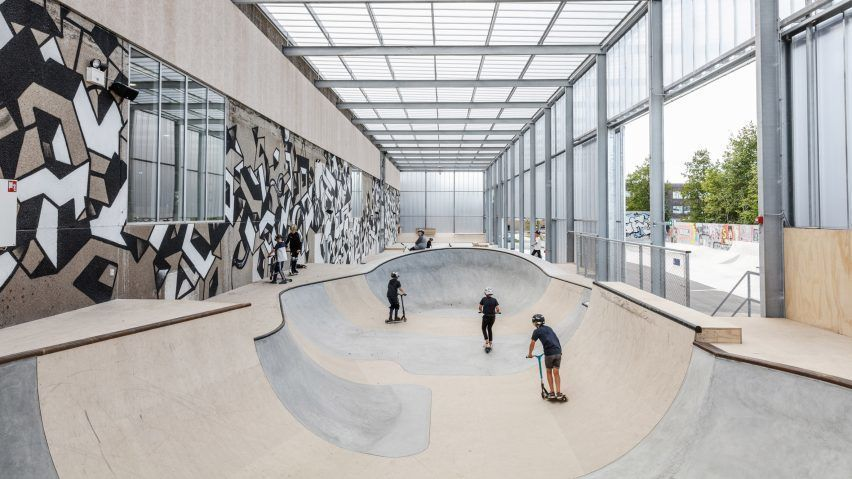EFFEKT transforms abandoned windmill factory into skatepark and youth centre