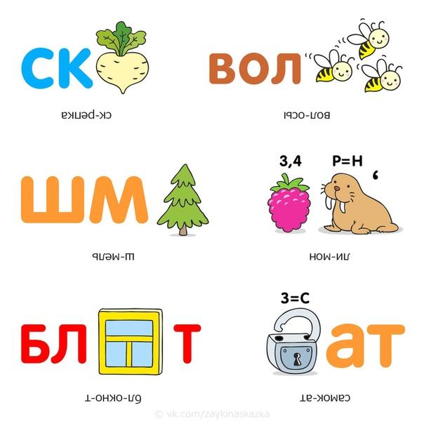 РЕБУСЫ С ОТВЕТАМИ Правила разгадывания ребусов:1. Изображенные на рисунках предметы и живые существа читаются как слова в именительном падеже и единственном числе.2. Запятые перед картинкой