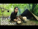 3 DAYS BUSHCRAFT OVERNIGHT – RUSSIAN CANVAS TENT, COOKING, ARROW MAKING, etc [Full documentary]