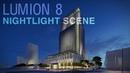 Lumion 8 - Timelapse video - Making Office Building Nightlight scene