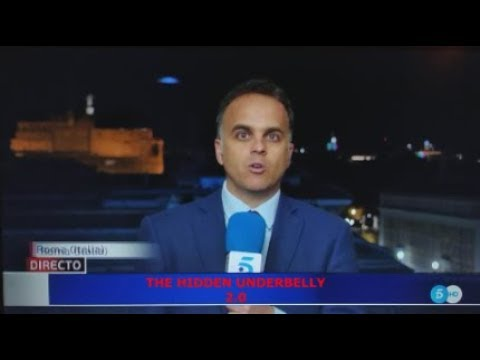 Blue UFO Flies Pass Reporter's Head During Live News Broadcast. May 8, 2020