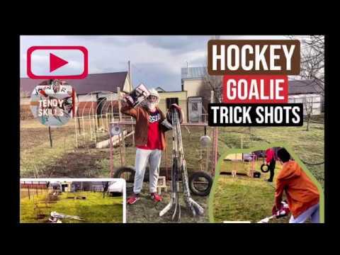 HOCKEY GOALIE TRICK SHOTS 2020