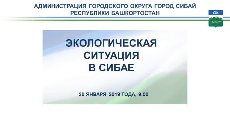 Информирование об экологической ситуации в Сибае 20 января 2019 года 9 00