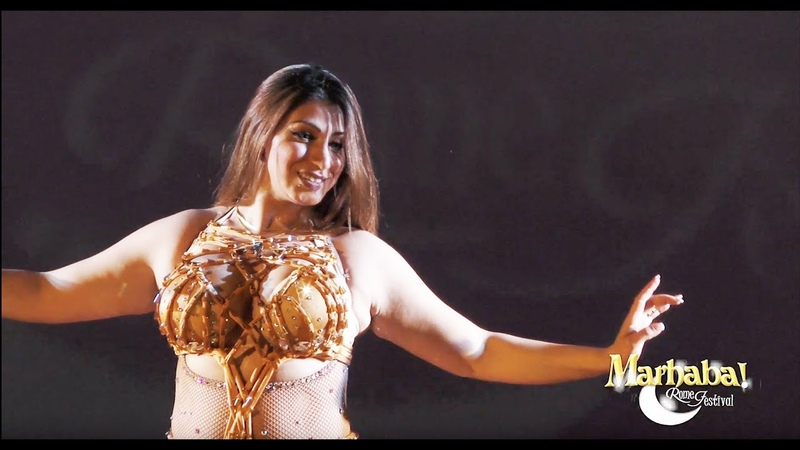 Aziza Cairo Bellydance Fee Youm We Lela by Warda for Marhaba Rome Festival