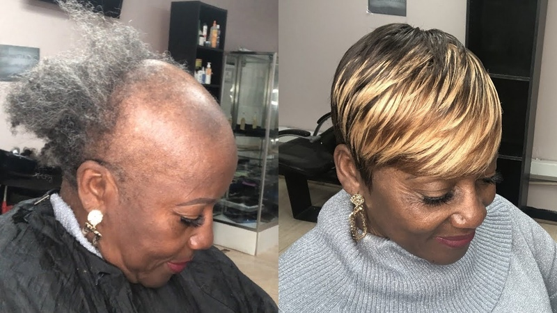 SEWING WEAVE ON SEVERE ALOPECIA (TIPS TRICKS)   PIXIE SHORT CUT